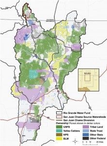 The Rio Grande Water Fund area includes forests, agricultural lands and communities from Belen north to the Colorado border.